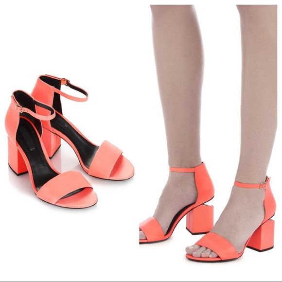 a0f684b65ee ALEXANDER WANG Abby Neon Pink Cut Out sandals